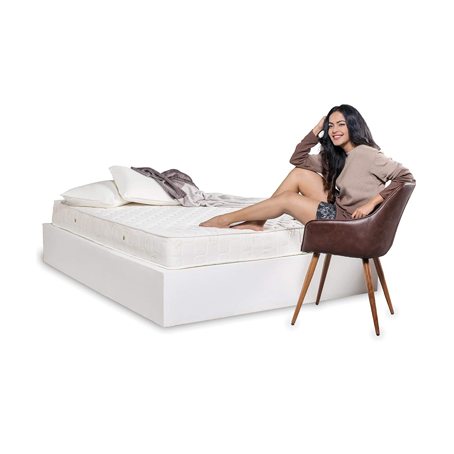 Explore the overall thickness of a coil in the innerspring mattress